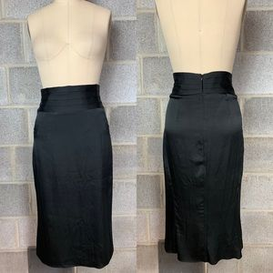 BR Skirt Below Knee Tuxedo Style Black Waistband